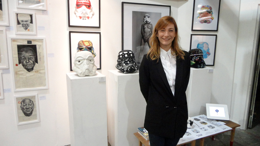 Georgia Parodi-Brown of Paddle 8 at The Other Art Fair in Marylebone in April. Image Auction Central News.