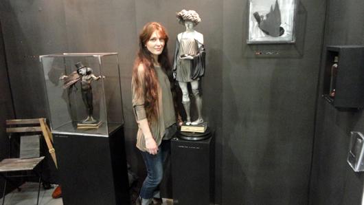 British sculptor Rachel Ann Stevenson at The Other Art Fair in London in April. Image Auction Central News.