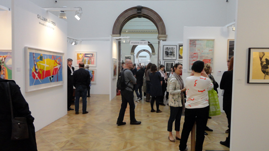 The final day of the London Original Print Fair was well attended at the Royal Academy on April 27. Image Auction Central News.