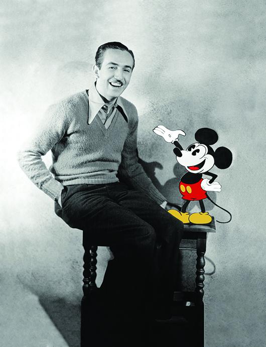 Walt Disney and Mickey Mouse (© Disney).