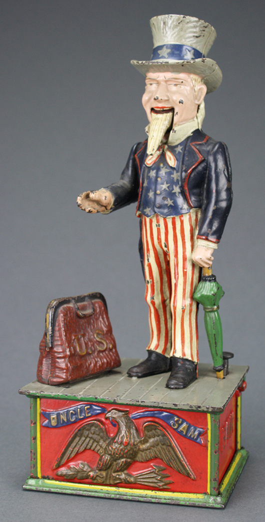 One of the finest Uncle Sam banks in the land. RSL Auction Co. image