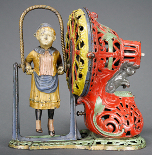 An exceptional example of the classic J. & E. Stevens Girl Skipping Rope bank. RSL Auction Co. image