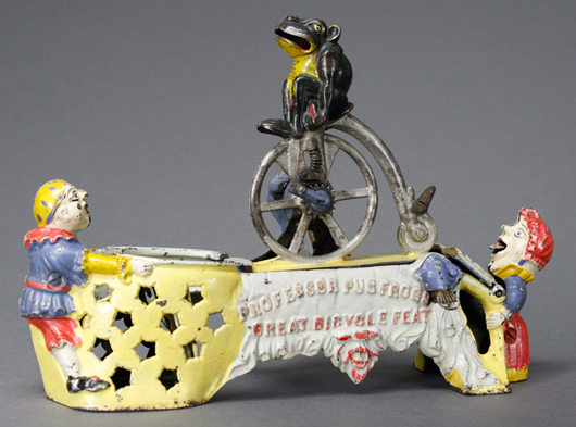 An extremely fine example of the bank known as Professor Pug Frog's Great Bicycle Feat. RSL Auction Co. image