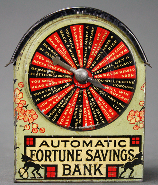 Extremely rare short version of the Fortune Wheel. RSL Auction Co. image