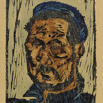 William H. Johnson (born Florence, S.C., 1901-died Central Islip, N.Y., 1970), self-portrait, graphic arts print, circa 1930-1935. Smithsonian Institution, courtesy Wikimedia Commons.