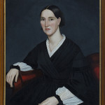 Ammi Phillips (American, 1788-1865), 'Portrait of a Woman,' oil on canvas, 33½ x 27in. Provenance: The Abby Aldridge Rockefeller Folk Art Collection, Colonial Williamsburg. Est. $8,000-$12,000. Quinn's Auction Galleries image