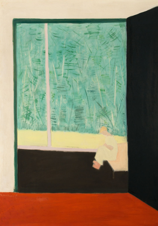 Milton Avery (American, 1885-1965), 'From the Studio,' 1954, oil on canvas, 58 x 42 inches, signed and dated. Estimate: $800,000-$1.2 million. Heritage Auctions image.