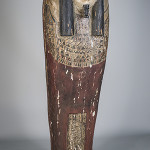 The mummy sarcophagus stands nearly 6 feet high. Image courtesy Capo Auction image.
