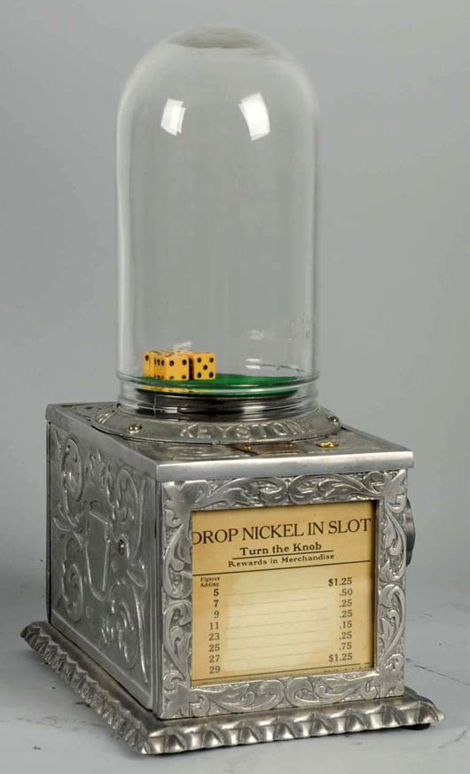 1926 Chuck-O-Luck nickel dice machine, $6,600. Morphy Auctions image