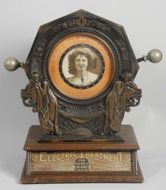 Mills 1-cent Electric Treatment shock machine, $11,400. Morphy Auctions image
