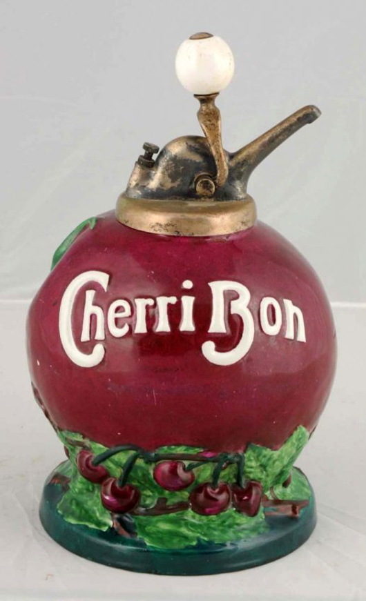 Cherri Bon syrup dispenser, $31,200. Morphy Auctions image