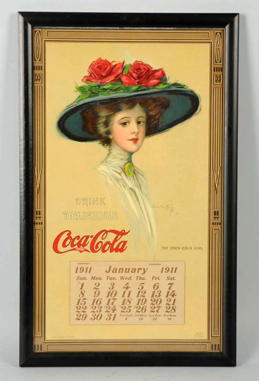 1911 Coca-Cola calendar, $17,400. Morphy Auctions image
