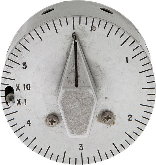 Apollo 12 flown stainless steel interval timer directly from the personal collection of mission lunar module pilot Alan Bean, certified and signed. Estimate: $20,000-$30,000. Heritage Auctions image.