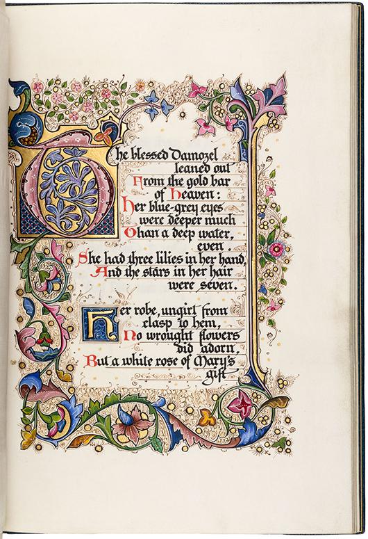 Rosetti's 'The Blessed DAmozel.' PBA Galleries image.