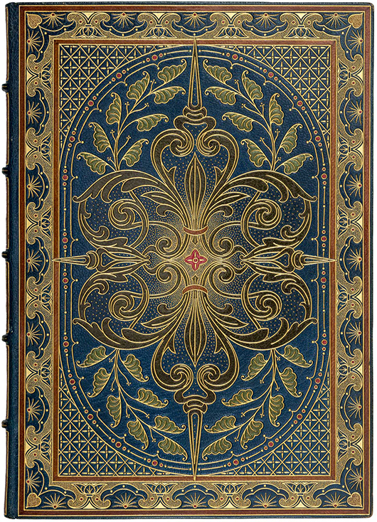 The Rosetti manuscript is superbly bound by master bookbinders Riviere & Son of London. PBA Galleries image.