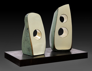 Dame Barbara Hepworth, 'Summer Dance,' painted polished and patinated bronze in two parts, 1971. Estimate $500,000-$700,000. Price realized: $926,500. Dallas Auction Gallery image.