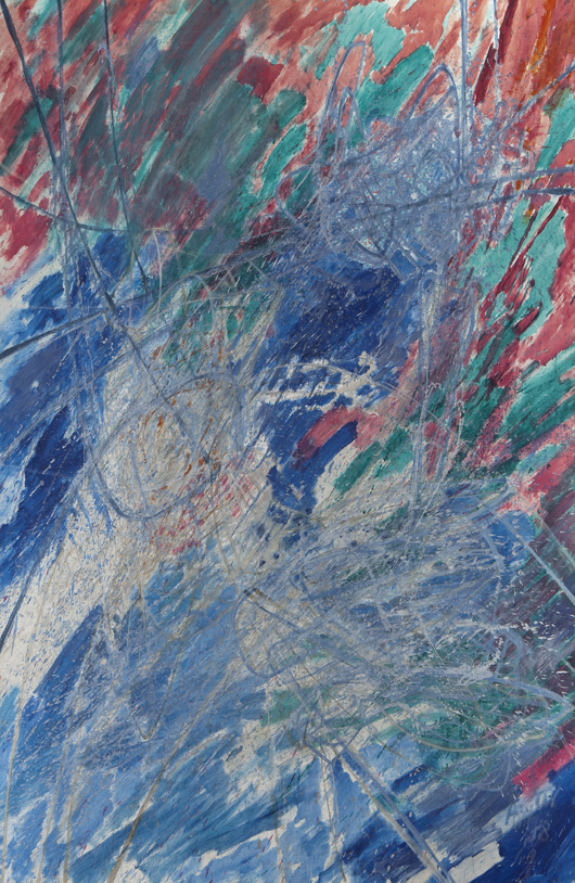 Stanley William Hayter, 'Nereides,' oil and acrylic on canvas, 1958. Signed and dated lower right, 'Hayter 58,' canvas: 78 3/4 x 67 1/4. Estimate: $10,000-$15,000. Price realized: $18,750. Dallas Auction Gallery image.
