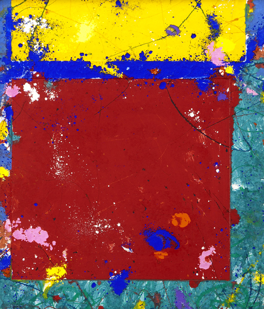 Four Sam monotypes by Sam Francis sold for $65,000. Dallas Auction Gallery image.