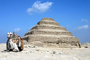 Saqqara Pyramid of Djoser in Egypt. Feb. 16, 2007 photo by Charlesjsharp, licensed under the Creative Commons Attribution-Share Alike 3.0 Unported license.