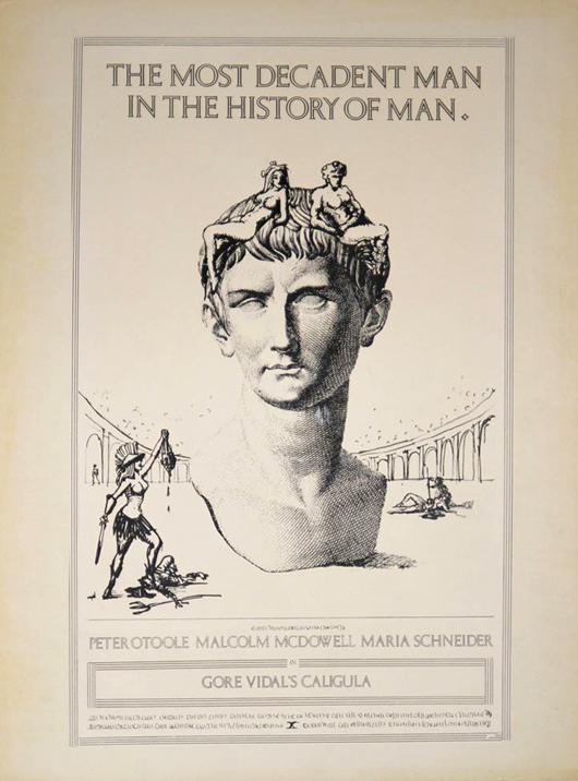 'Caligula' key art concept matted art, 15 x 20 inches. Estimate $800-$1,000. Filthy Gorgeous Art image.