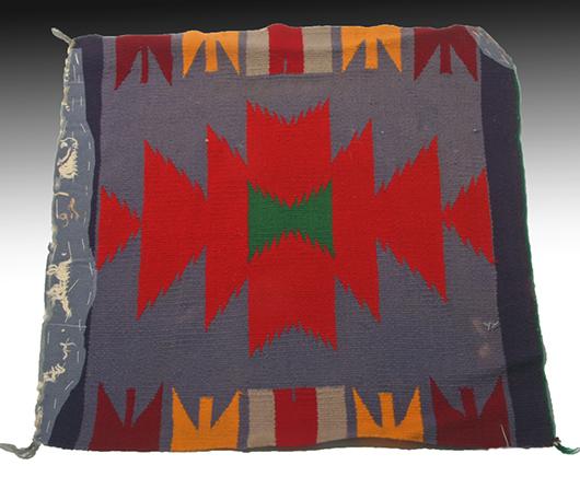 Germantown Navajo sampler rug, circa 1960. Estimate: $250-$450. Artemis Gallery Live image.