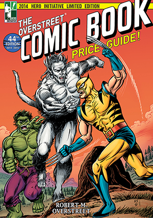 Cover of the 2014 Hero Initiative Limited Edition of The Overstreet Comic Book Price Guide. Image courtesy of Gemstone Publishing