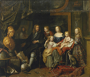 Charles Le Brun (French, Paris 1619–1690 Paris), 'Everhard Jabach (1618–1695) and His Family,' circa 1660, oil on canvas, 92 × 128 in. (233.7 × 325.1 cm). Purchase, Mrs. Charles Wrightsman Gift, 2014. Image courtesy of The Metropolitan Museum of Art