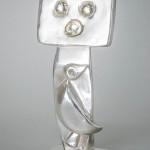 Max Ernst (German, 1891-1976), 'Homme,' silver cast sculpture. Estmate: $70,000-$90,000. Capo Auction image.