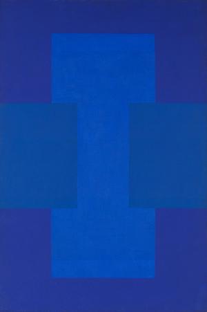 Ad Reinhardt (American, 1913-1967), Untitled (Blue-Purple Painting), 1952, oil on canvas, 36 x 24 inches (91.4 x 61.0 cm), bears inscription, includes artist's original painted strip frame. Estimate: $1 million-$1.5 million. Heritage Auctions image.