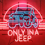Prototype Jeep Wrangler neon sign, 37in by 25in. Mosby & Co. image