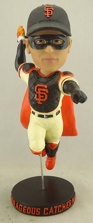 All fans attending the June 7 game will receive a collector's-edition bobblehead figure of 'Courageous Catcherman,' former Marvel Comics impresario Stan Lee's interpretation of San Francisco Giants catcher Buster Posey.