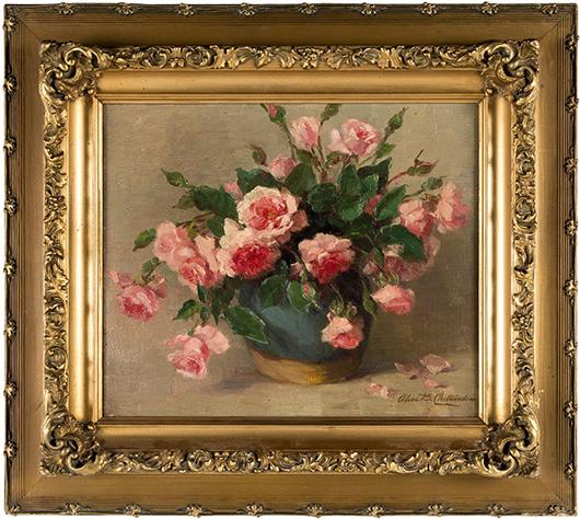 Alice B. Chittenden still life of flowers. Estimate: $3,000-$5,000. PBA Galleries image.
