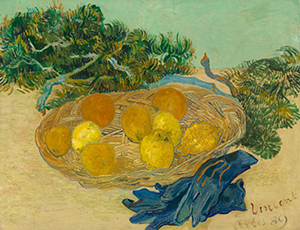 Vincent van Gogh, 'Still Life of Oranges and Lemons with Blue Gloves,' 1889, oil on canvas, National Gallery of Art, Washington, Collection of Mr. and Mrs. Paul Mellon.