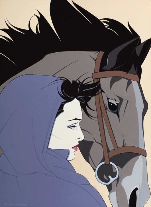 Patrick Nagel (American, 1945-1984), Untitled (Woman with Horse), 1983. Price realized: $161,000. Heritage Auctions image.