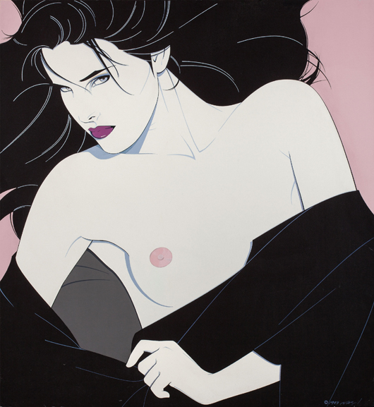 Patrick Nagel (American, 1945-1984), 'Untitled (Her Look),' 1983. Price realized: $161,000. Heritage Auctions image.
