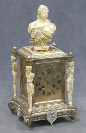 French silvered brass with ivory. William Jenack Estate Appraisers and Auctioneers image.