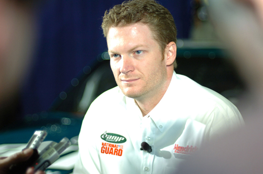 NASCAR driver Dale Earnhardt Jr. Image by Tech. Sgt. Mike R. Smith, National Guard Bureau, courtesy of Wikimedia Commons.