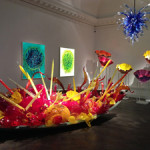 An interior view of 'Beyond the Object', an exhibition of the work of American glass sculptor Dale Chihuly at Halcyon Gallery in New Bond Street until June 21. Image: Auction Central News.