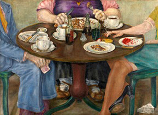 London dealer Ted Few will be showing this amusing oil on canvas of 1949 by David Craig, titled And Her Mother Came Too, at the Art Antiques London Fair on the West Lawn of Kensington Gardens from June 11-18. Image courtesy Art Antiques London and Ted Few.