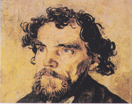 The painting titled 'Head of a Man,' once thought to be a Van Gogh. Image courtesy of Wikimedia Commons.