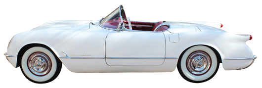 This gorgeous1954 Chevrolet Corvette in original condition sped off, against heated bidding, for a smooth $65,500. Clars Auction Gallery image.