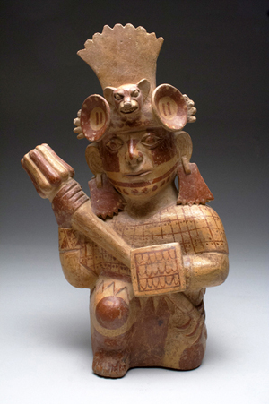 Moche Janus-headed warrior, ex collection of Hollywood director, Pre-Columbian, circa 600 CE. Est. $20,000-$30,000. Image: Artemis Gallery LIVE