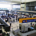 Check-in counters in the Tom Bradley International Terminal. Image by TimBray at en.wikipedia. This file is licensed under the Creative Commons Attribution-Share Alike 3.0 Unported license.