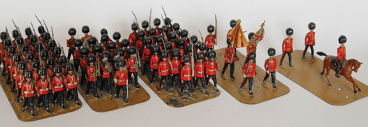 Five of eight Clyde Model Dockyard displays that will be sold as separate lots with estimates ranging from $1,500 to $7,000 each. Old Toy Soldier Auctions image