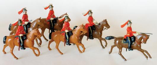 Britains Paris Office Dragoons, estimate $5,000-$7,000. Old Toy Soldier Auctions image