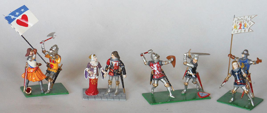 Greenhill/Courtenay knights custom made for Old Toy Soldier Auctions and ranging in price from $200-$2,000. Old Toy Soldier Auctions image
