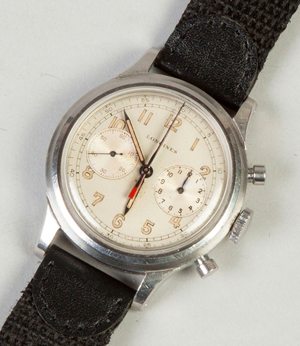 The top lot of the auction was this rare and handsome men's Longines wristwatch from the 1940s, which sold for $50,600, inclusive of the buyer's premium. Cottone Auctions image.