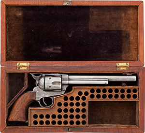 Buffalo Bill Cody's Colt Model 1873 Frontier six shooter revolver is expected to be the highlight of Heritage Auctions' Legends of the West Signature Auction on June 14. Heritage Auctions image.
