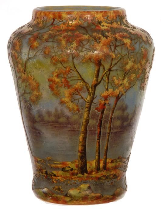Antiques Spirited Art Deco Oil P & A Company Acorn In Nancy Daum Style