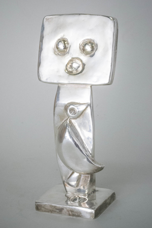 Max Ernst (German, 1891-1976), 'Homme,' silver cast sculpture, conceived in 1960, cast by 1970. Price realized: $60,000. Capo Auction Fine Art and Antiques image.